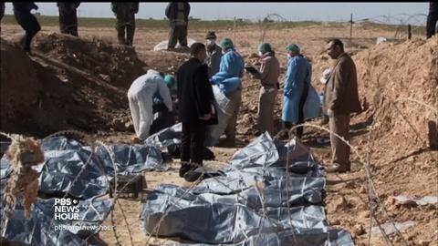 PBS NewsHour -- Mass graves of ISIS victims discovered across Iraq and Syria