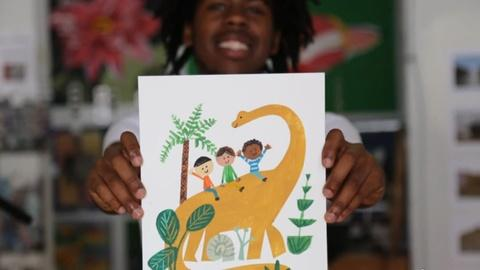 PBS NewsHour -- The art of making pictures speak to children