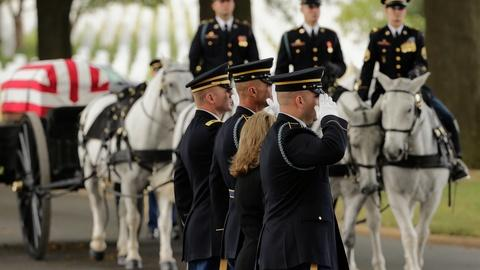 PBS NewsHour -- Two horses who led funerals at Arlington given new homes