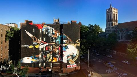 PBS NewsHour -- These vivid NYC murals spotlight climate-threatened birds