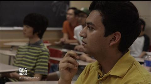 PBS NewsHour -- A mentoring program that aims to keep Latino males in school