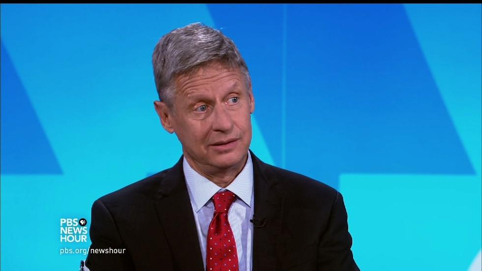 Gary Johnson on the rules keeping him off the debate stage image