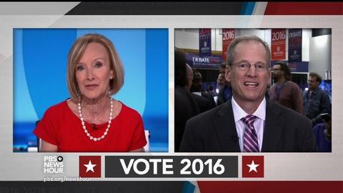 PBS NewsHour -- What Clinton and Trump want from the first debate