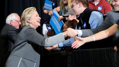 PBS NewsHour -- Clinton works to win over young voters