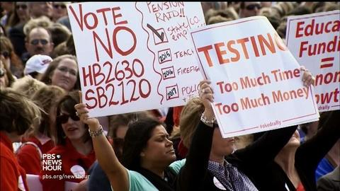 PBS NewsHour -- Educators upset over Oklahoma's schools run for office