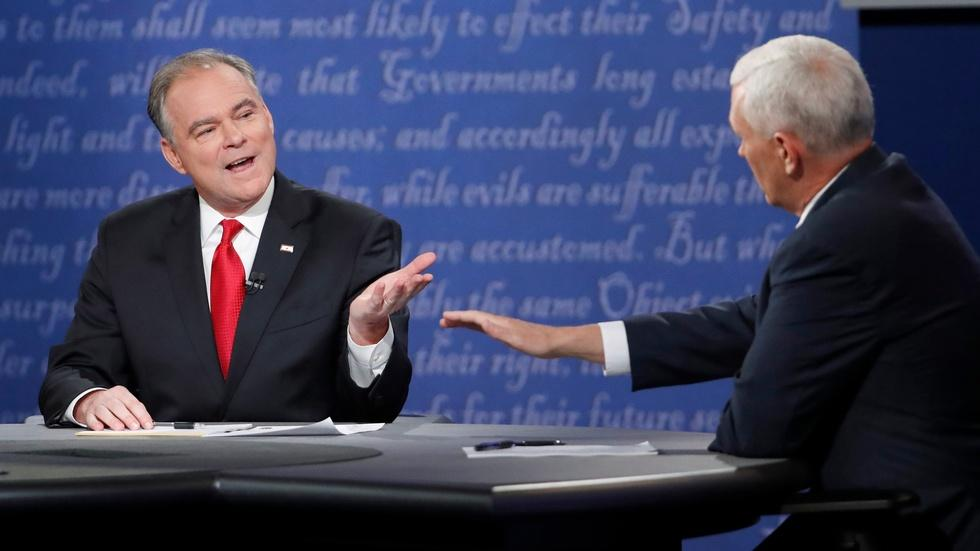 Trump and Clinton campaigns react to the VP debate image