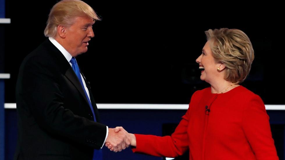 Clinton, Trump prepare for debate amid Republican exodus image