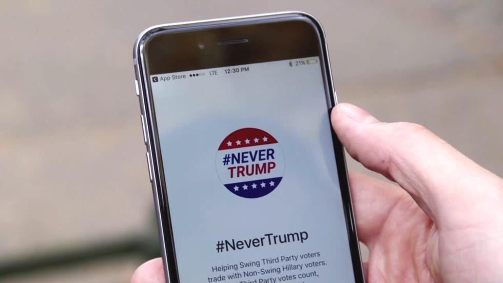 These apps help people trade votes to boost Clinton image