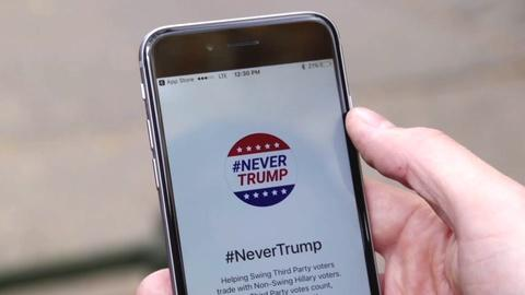 These apps help people trade votes to boost Clinton