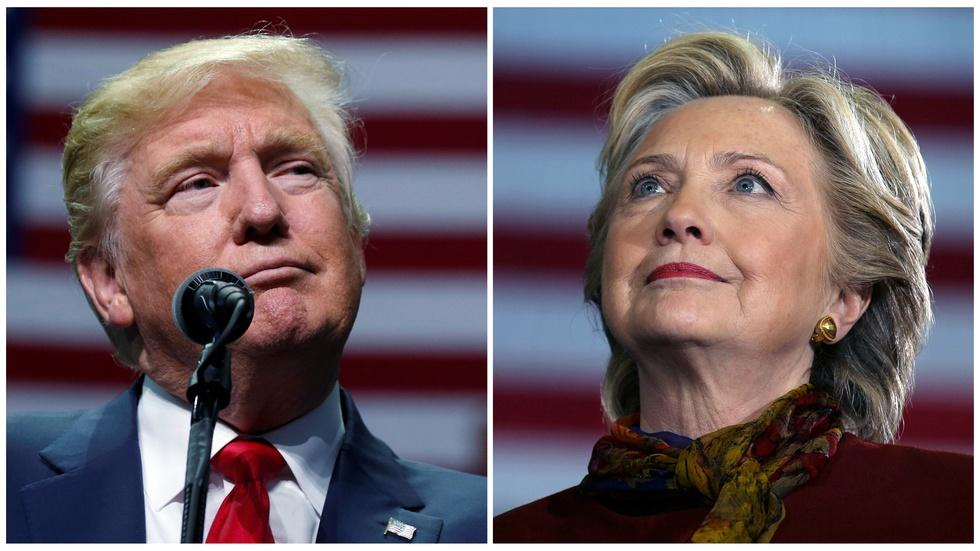 Trump and Clinton bombard battleground states in final push image