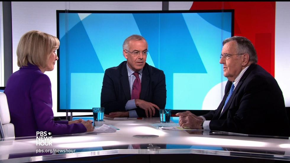 Shields and Brooks on moving past a 'political earthquake' image