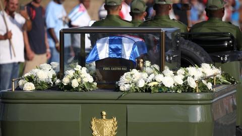 PBS NewsHour -- Castro's funeral procession retraces Revolution's route