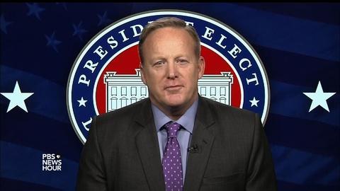 PBS NewsHour -- Spicer: 'Zero evidence' Russian hacks had any impact