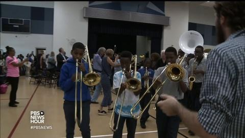 PBS NewsHour -- Struggling schools benefit from adding art to learning
