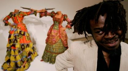 PBS NewsHour -- Depicting globalization through art 'full of contradiction'