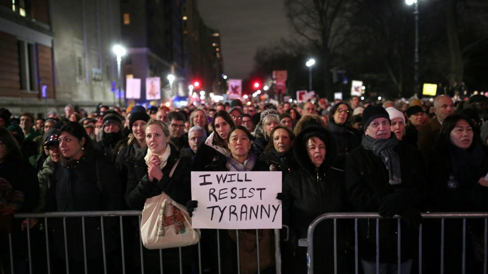 Anti-Trump protests break out across D.C. image
