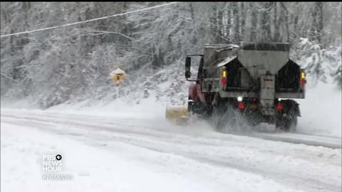 PBS NewsHour -- You can thank Ohio's tropical sea for your winter road salt