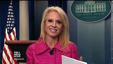 PBS NewsHour -- Kellyanne Conway on Trump's voter fraud claims, Mexico