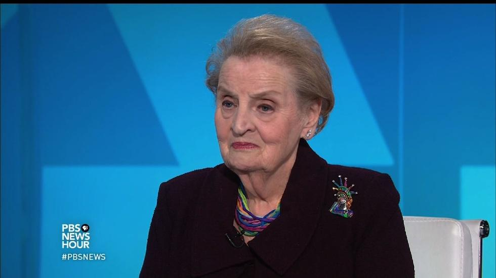 Albright: Refugee ban 'a gift to those that hate us' image