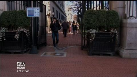 PBS NewsHour -- Universities tell foreign students: Don't go anywhere
