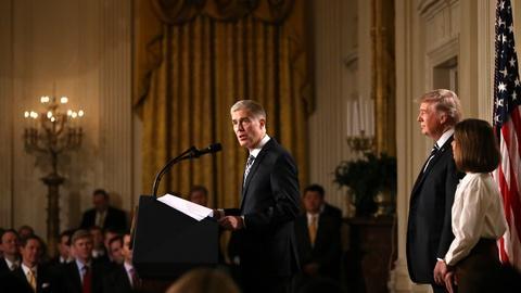 PBS NewsHour -- Trump names Neil Gorsuch as Supreme Court nominee