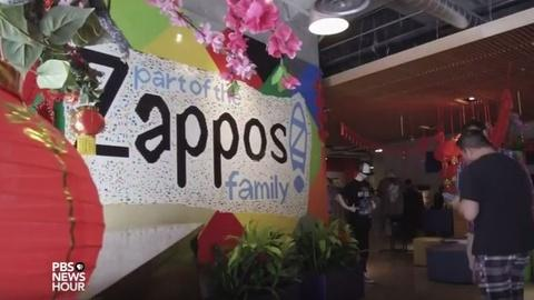 PBS NewsHour -- Zappos is a weird company -- and it's happy that way