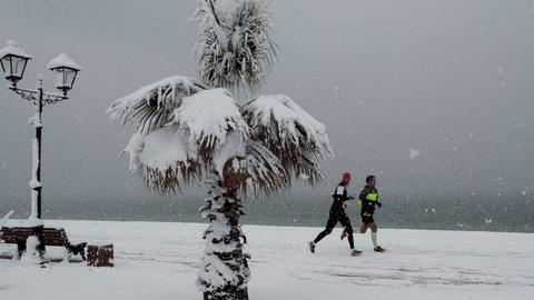 PBS NewsHour -- At this Russian lake, winter is the best time for a marathon