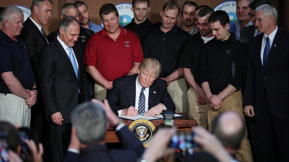 Trump begins rollback of Obama climate agenda image