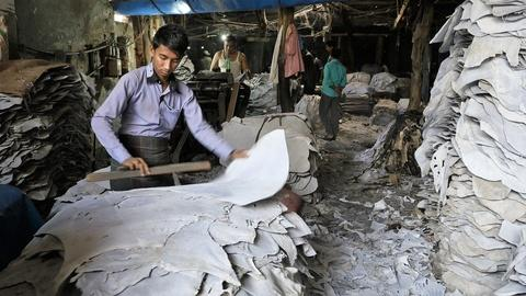 PBS NewsHour -- Bangladesh leather industry exposes workers to toxic hazards