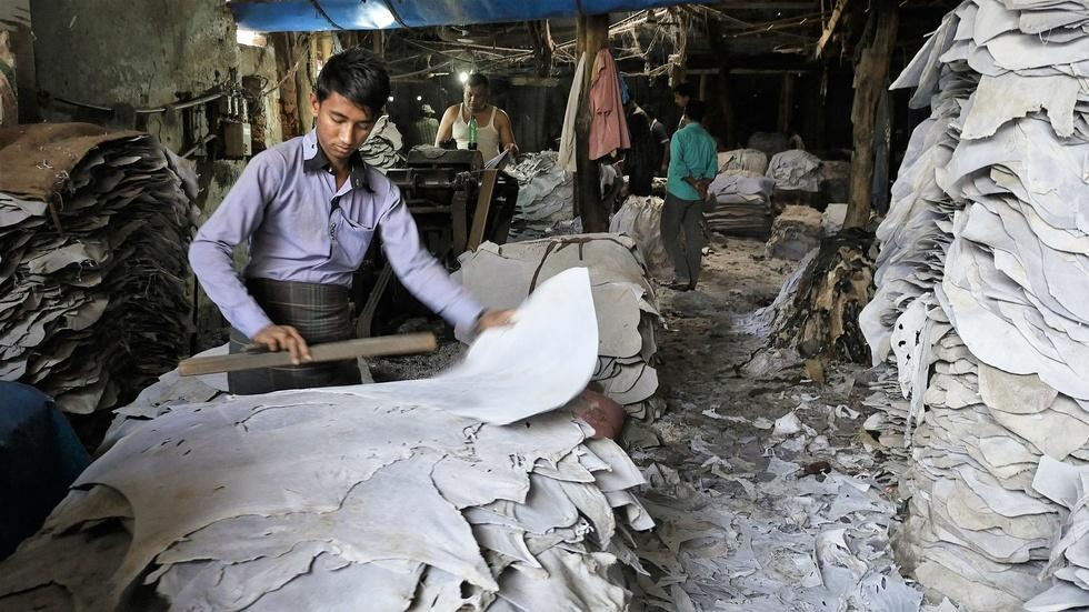 Bangladesh leather industry exposes workers to toxic hazards image