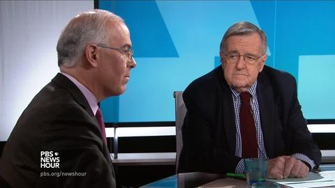 PBS NewsHour -- Shields and Brooks on Trump's conservative confrontation