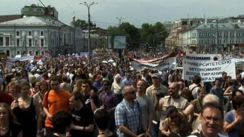 PBS NewsHour -- Putin Faces Broad Opposition as Thousands March in Moscow