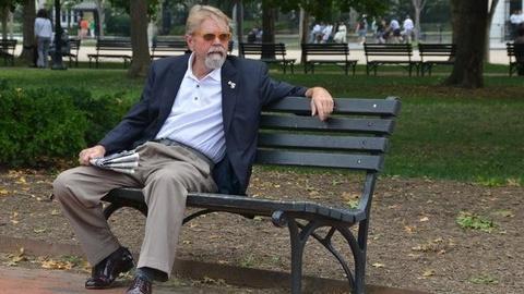 PBS NewsHour -- Vet Activist Goes on Hunger Strike in Front of White House