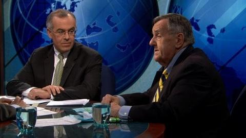 PBS NewsHour -- Shields, Brooks on Tough Calls for U.S. on Libya, Pension...