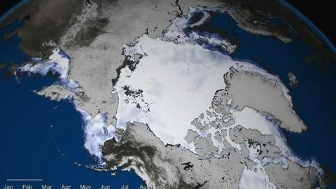 PBS NewsHour -- Arctic Ice Cap Shrinks to Record Low Level