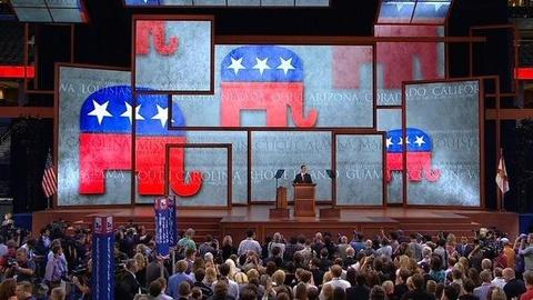 PBS NewsHour -- GOP Convention Convenes but Shuffles Schedule Due to Storm