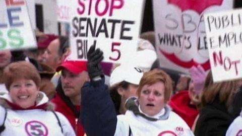 PBS NewsHour -- Wisconsin Protest Stirs Questions on Public vs. Private...