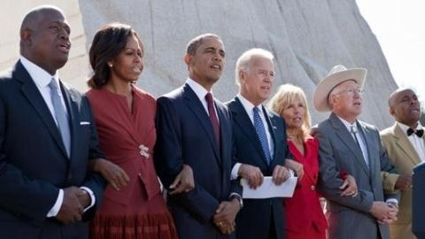 PBS NewsHour -- Obama, Civil Rights Leaders Formally Dedicate MLK Memorial