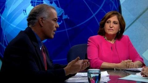 PBS NewsHour -- Brooks, Marcus on New Recession Fears, Bain Debate