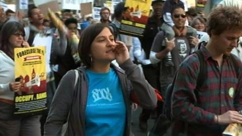 PBS NewsHour -- Occupy Oakland Movement Tries to Flex Muscle With General...