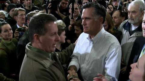 PBS NewsHour -- Ahead of Tuesday's Vote, Another Poll Shows Romney, Ron...