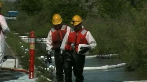 PBS NewsHour -- Big Sky Country Struggles With Yellowstone Oil Spill...