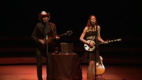 PBS NewsHour -- Gillian Welch and Dave Rawlings Play 'Hard Times'