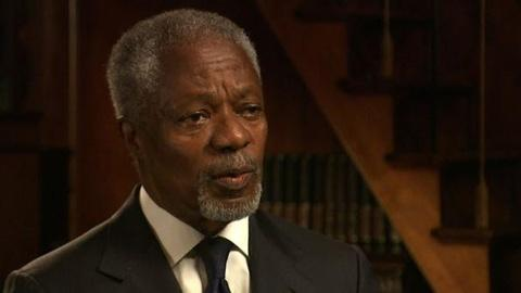 PBS NewsHour -- Kofi Annan on 40 Years Trying to End War, Promote Peace