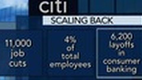 PBS NewsHour -- Citigroup Plans to Lay Off 11,000 Employees in Scale Back