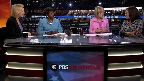 PBS NewsHour -- More Than Two Dozen Women to Take Stage on Day One of DNC