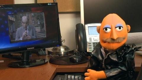 PBS NewsHour -- Leather Muppet to Stephen Colbert: You Are What You Eat