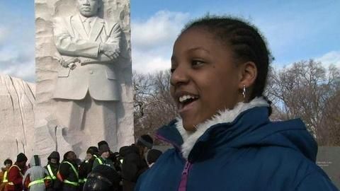 PBS NewsHour -- In Smaller Voices, 'I Have a Dream' Echoes Again Over...