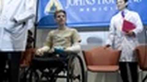 PBS NewsHour -- Iraq War Vet Receives Rare Double Arm Transplant