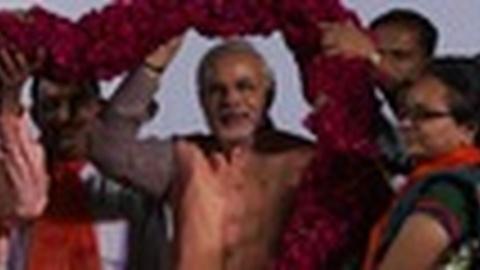 PBS NewsHour -- In India, Modi Is a Popular, Polarizing Figure in Politics
